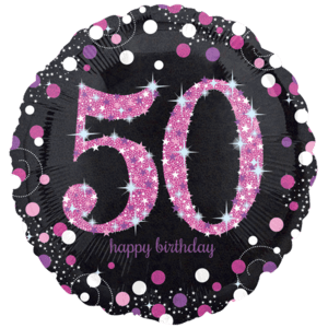 "18"" Pink 50th Celebration Balloon in a Box"