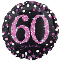 "18"" Pink 60th Celebration Balloon in a Box"