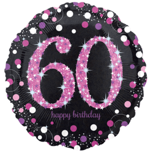 """18"""" Pink 60th Celebration Balloon in a Box"""