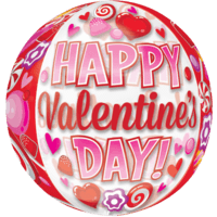 "16"" Happy Valentine's Day Candy Orbz Balloon in a Box"