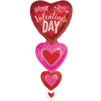 5ft Vertical Hearts Stacker Balloon in a Box