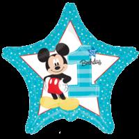 "19"" Mickey 1st Birthday Balloon in a Box"