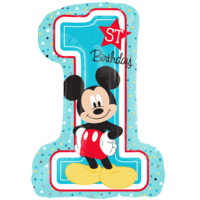 "28"" Mickey 1st Birthday SuperShape Balloon in a Box"