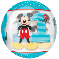"16"" 1st Birthday Mickey Mouse Orbz Balloon in a Box"