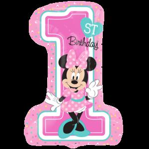 "28"" Minnie 1st Birthday SuperShape Balloon in a Box"