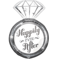 "27"" Happily Ever After Ring Balloon in a Box"