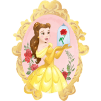 "31"" Beauty & The Beast Rose Balloon in a Box"