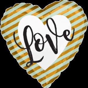 Love Stripes Balloon in a Box