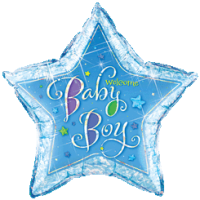 Baby Boy Star Balloon in a Box