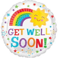 Get Well Soon Rainbow Sun Balloon in a Box