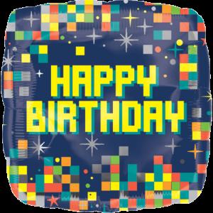 Birthday Pixels Balloon in a Box