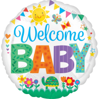 Welcome Baby Bunting Balloon in a Box