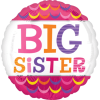 "18"" Big Sister Scallops Balloon in a Box"
