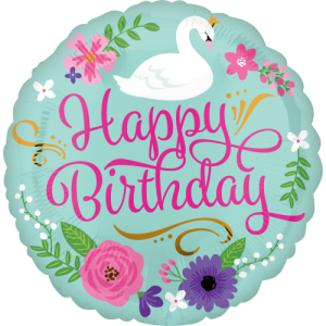 Happy Birthday Swan Balloon in a Box