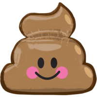 "25"" Emoticon Smiling Poop Balloon in a Box"