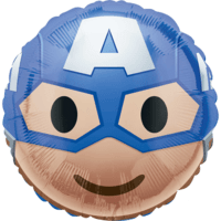 "18"" Captain America Emoji Balloon in a Box"