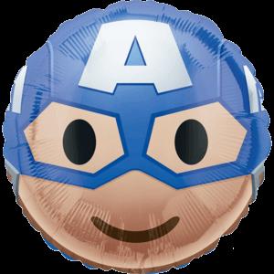 """18"""" Captain America Face Emjoi Balloon in a Box"""