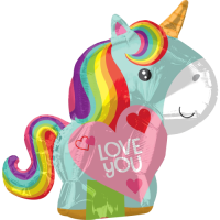 Rainbow Unicorn Love Balloon in a Box