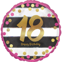 Pink & Gold 18th Birthday Dots Balloon in a Box
