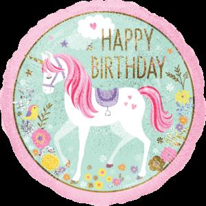 Magical Unicorn  Birthday Balloon in a Box