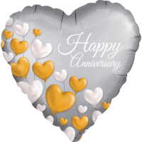 Floating Hearts Anniversary Satin Balloon in a Box