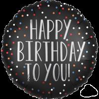 Satin Dots Happy Birthday  Balloon in a Box