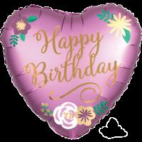 Happy Birthday Blush Flowers