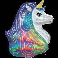 Rainbow Unicorn Iridescent Balloon in a Box