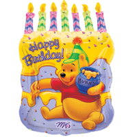 Pooh Cake Birthday Balloon in a Box