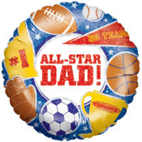 All Star Dad Balloon in a Box