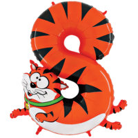 "Zooloon 40"" Crazy Cat Number 8 Balloon in a Box"