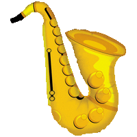 Large Saxophone Balloon in a Box