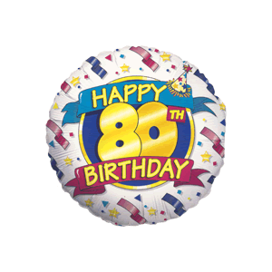 Happy 80th Banner Balloon in a Box