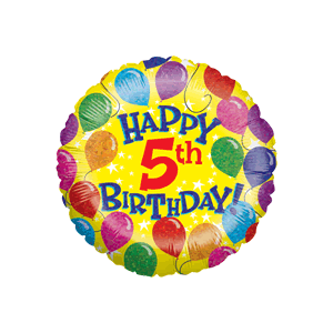 5th Birthday Balloons Balloon in a Box
