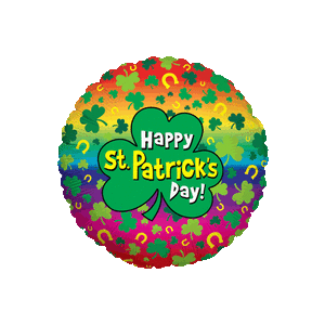 Colourful Happy St. Patricks Day Balloon in a Box