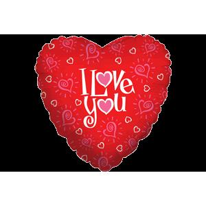 I Love You Creative Hearts Balloon in a Box