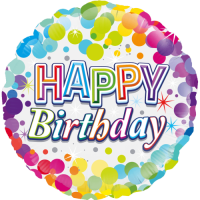 Colourful Confetti Happy Birthday Balloon in a Box
