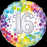 16th Colourful Confetti Birthday Balloon in a Box