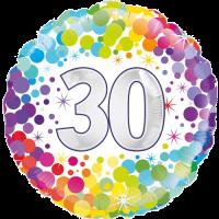30th Colourful Confetti Birthday Balloon in a Box