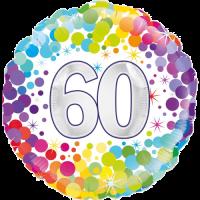 60th Colourful Confetti Birthday Balloon in a Box