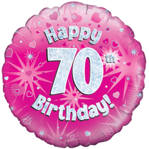 Happy 70th Birthday Girl Holographic Balloon in a Box