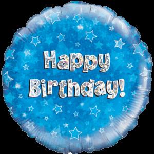 Happy Birthday Blue Stars Balloon in a Box