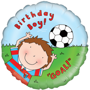 Birthday Boy Football Fun! Balloon in a Box