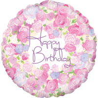 Vintage Floral Birthday Balloon in a Box