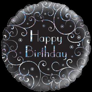 Vine Swirls Happy Birthday  Balloon in a Box