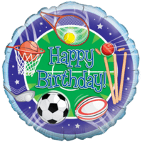 All Sports Happy Birthday Balloon in a Box