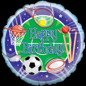 All Sprots Happy Birthday Balloon in a Box
