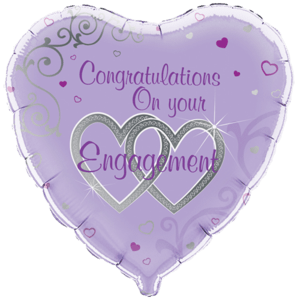 Congratulations on Engagement Balloon in a Box