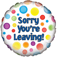 Sorry You're Leaving Colourful Balloon in a Box