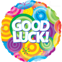 Good Luck Rainbow Circles Balloon in a Box